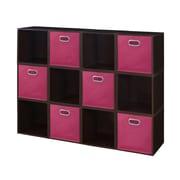 Niche Cubo Storage Set, 12 Cubes and 6 Canvas Bins