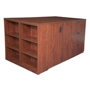 Regency Legacy Stand Up Lateral File/3 Storage Cabinet Quad with Bookcase End