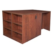 Regency Legacy Stand Up Desk/3 Storage Cabinet Quad with Bookcase End