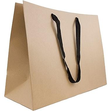 JAM Paper® Heavy Duty Matte Horizontal Gift Bags, 17 x 13 x 6, Kraft, 3/Pack